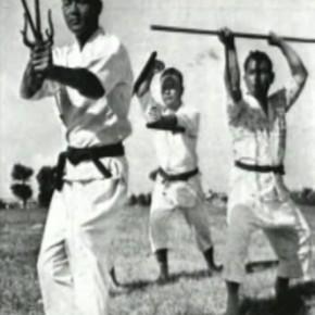 Мастера окинавского каратэ с традиционным оружием