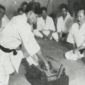 Тамешивари на Окинаве