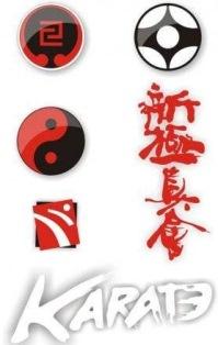 Эмблемы стилей каратэ