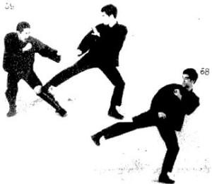 практичный удар ногой